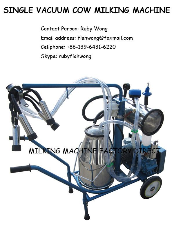 Vacuum Milking Machine with steel Shelf