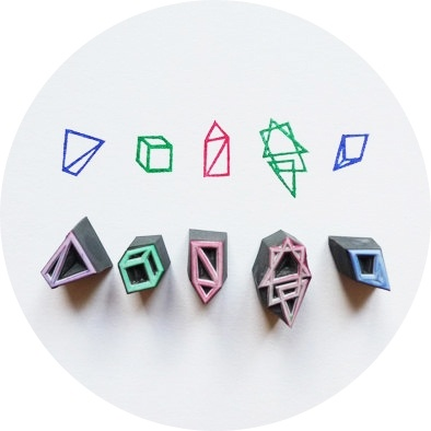 Geometry by This is just to say at Nordic Design Collective #stamp #design
