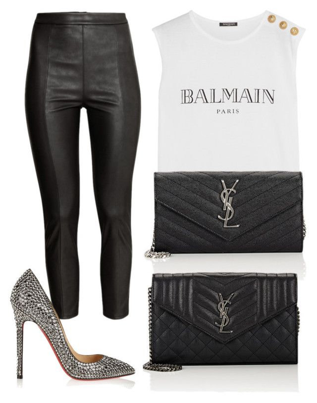 Без названия #3624 by pakalova on Polyvore featuring polyvore beauty Yves Saint Laurent Balmain H&M Christian Louboutin
