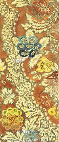 Design for woven silk, by Anna Maria Garthwaite. London, England, early 18th century