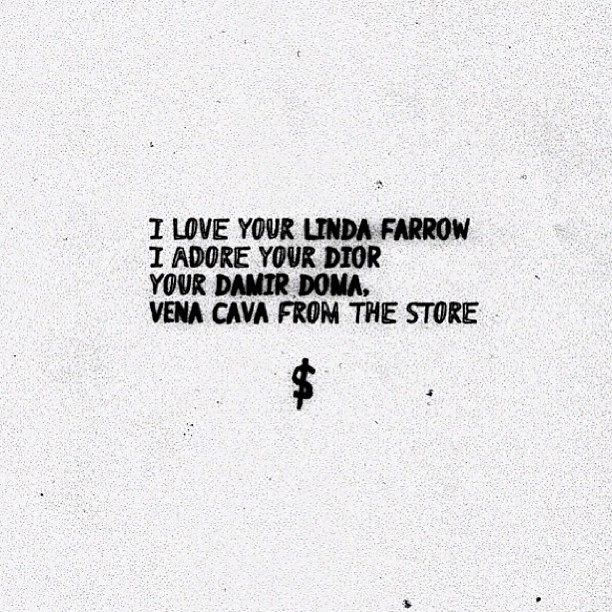 "A$AP Rocky ""Fashion Killa"" lyrics"