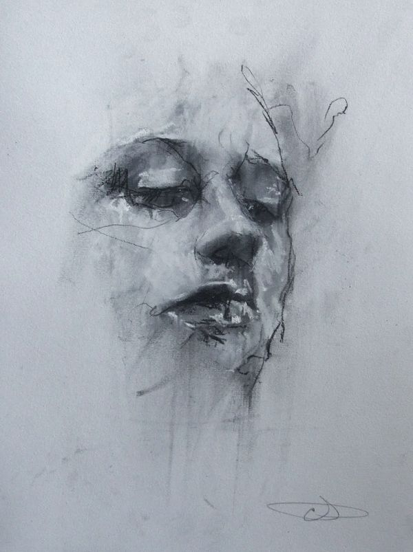 Draw like this in book using white black and minimal colour chalk. Sketches