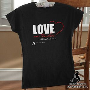 love me tender personalized valentines day shirt for women for anyone who loves elvis - Valentines Day Shirts Ladies
