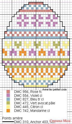 Easter egg perler bead pattern