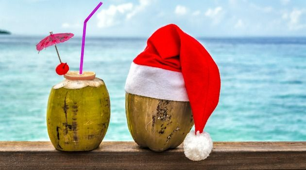Christmas beach cocktails