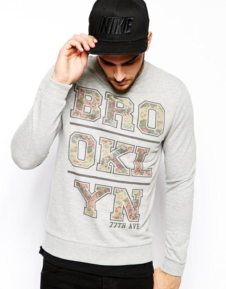 ASOS Sweatshirt With Brooklyn Print