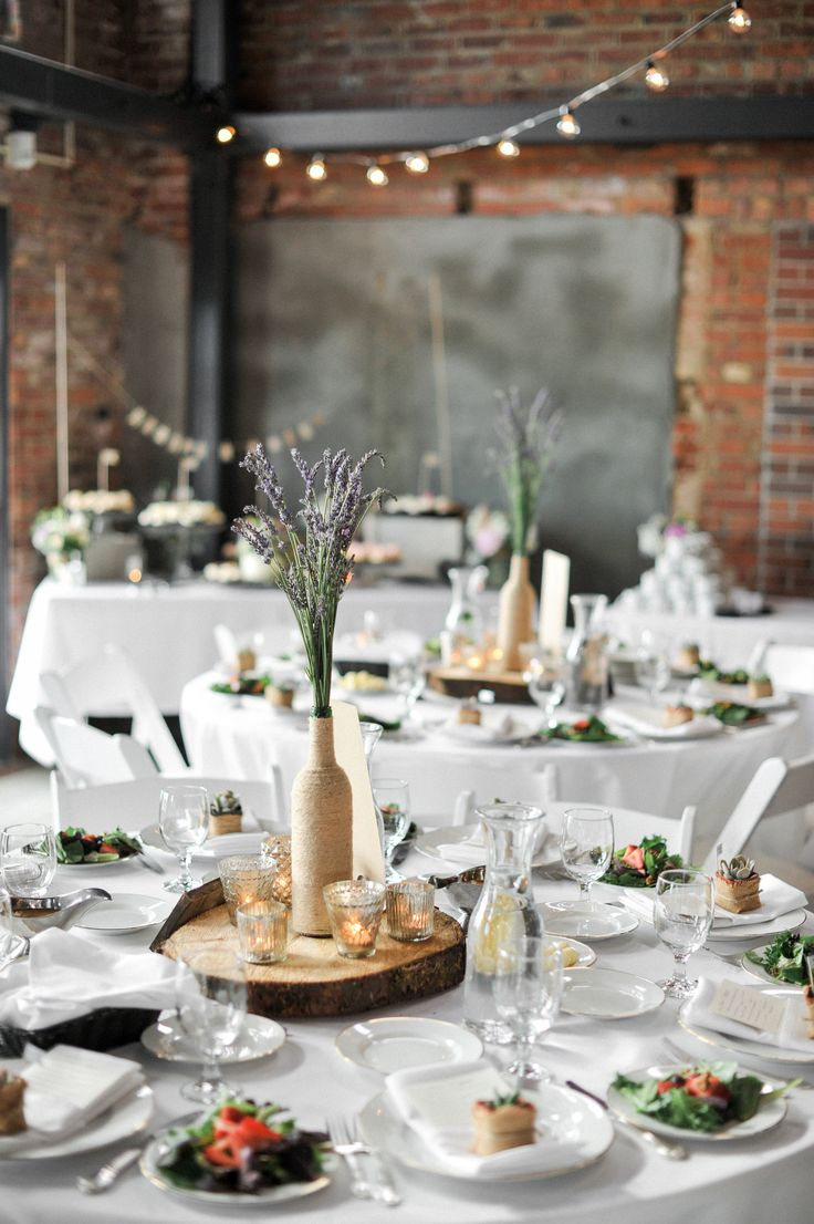 #lavender, #tablescapes, #centerpiece  Photography: Blue Rose Photography - bluerosepictures.com  Read More: http://www.stylemepretty.com/2014/07/30/summer-seattle-wedding-at-golden-gardens/