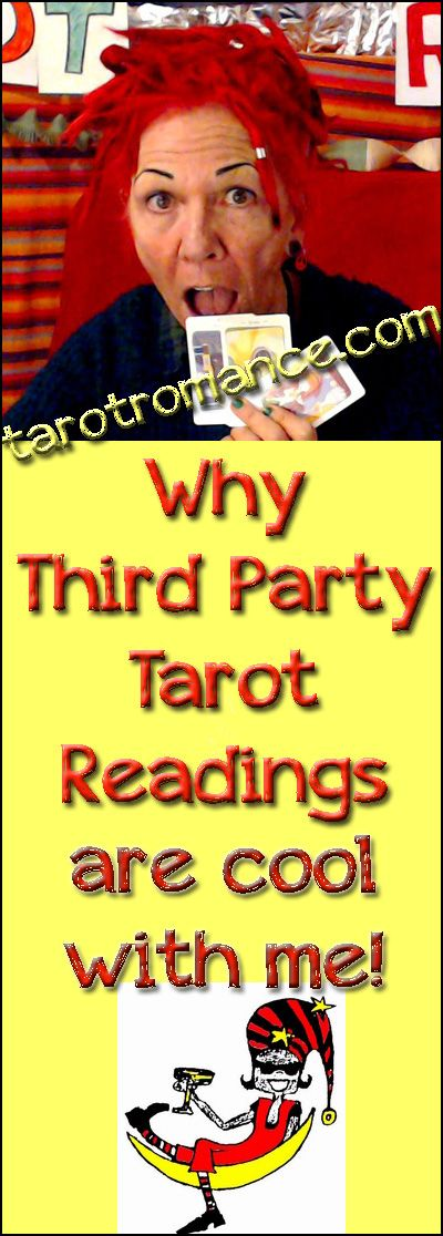 Really. Third-party Tarot readings are just fine. Read my blog on Biddy Tarot to find out why! #tarotreading