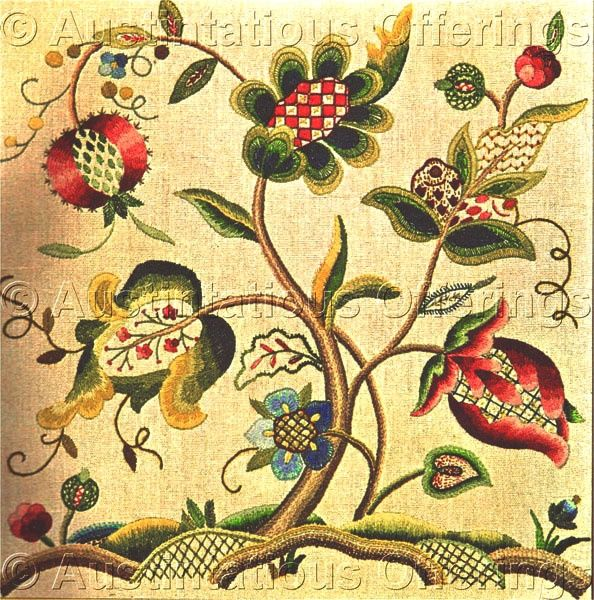 900 Best Images About Crewel Embroidery; Jacobean And