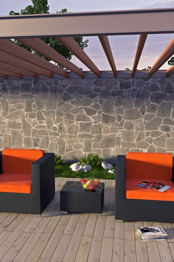 Burrow 3 Piece Patio Sectional Set in Espresso Orange (EEI-995-EXP-ORA-SET). Click the image for more details or click here: http://www.likemodern.com/products/burrow-3-piece-patio-sectional-set-in-espresso-orange-eei-995-exp-ora-set.html #outdoorfurnitures #outdoorsofas