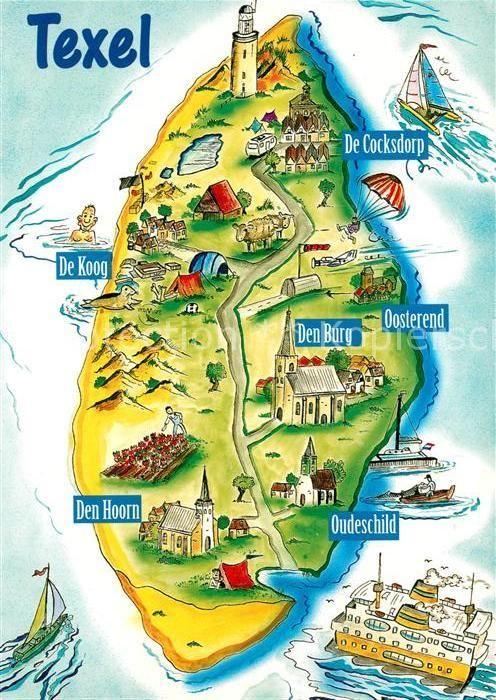 Karte Texel.Ak Ansichtskarte Texel Panoramakarte Kat Niederlande In 2019