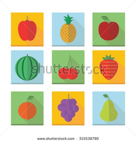 Fruits icons - stock vector