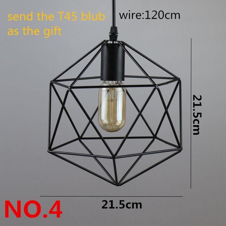 Retro iluminação interior luz Do Vintage pendente luzes LED 24 tipos de gaiola…
