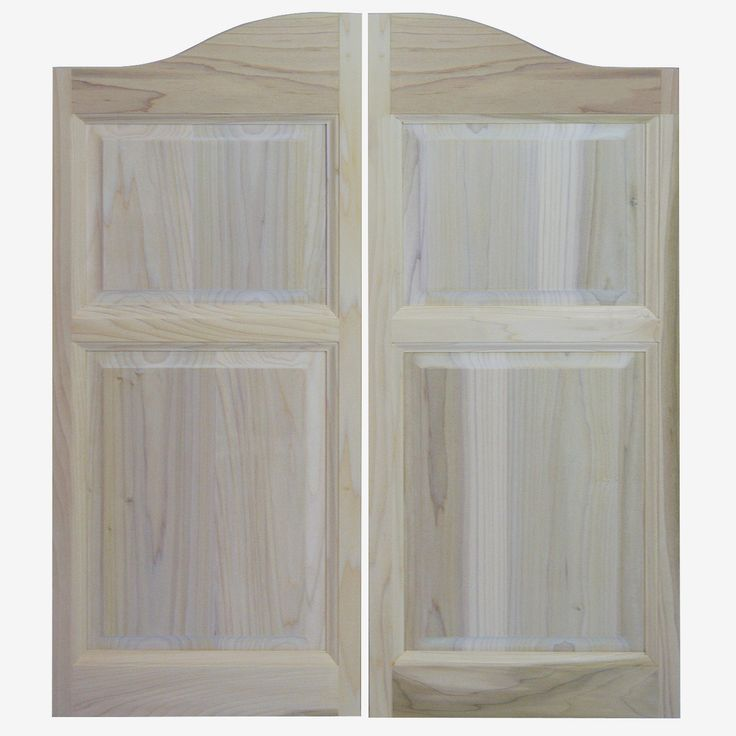 "Solid Poplar Western Cafe Doors / Saloon Doors Arched Top (24""-36"" Door Openings)"