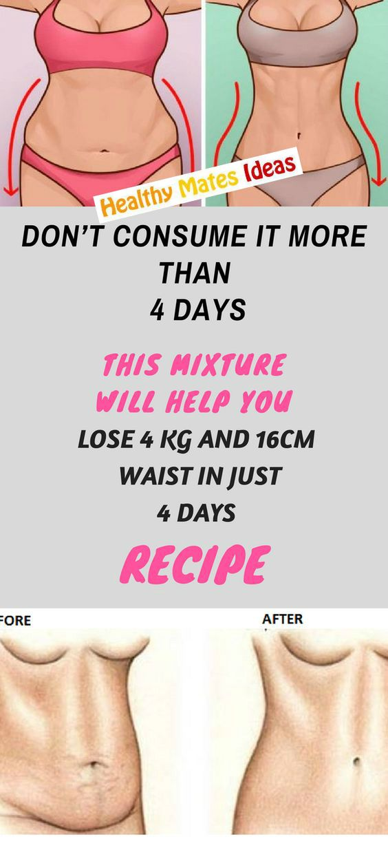 DON'T CONSUME IT MORE THAN 4 DAYS: THIS MIXTURE WILL HELP YOU LOSE 4 KG AND 16CM WAIST IN JUST 4 DAYS- RECIPE!