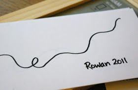 Beneath the Rowan Tree: Christmas Card :: Thumb Print String of Lights