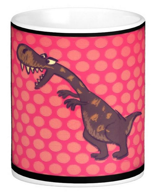 """He looks ferocious but he's just a little hungry. A fun mug to add to your """"Animal Lovers"""" collection!"""
