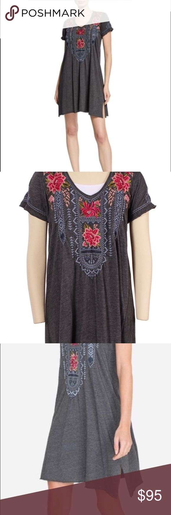 NWT JOHNNY WAS DRAPED EMBROIDERED DRESS - 1X Johnny Was
