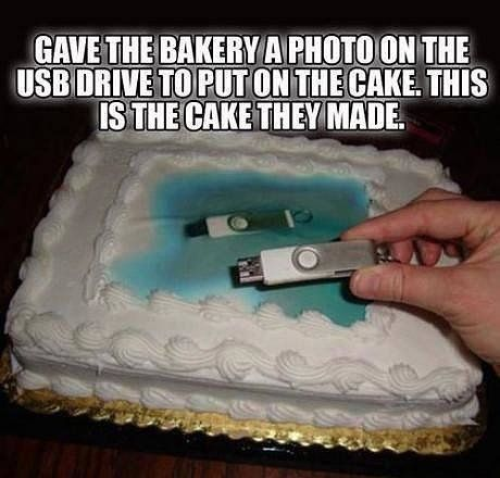 """You had ONE job ... and it wasn't to make this cake more """"flashy."""":"""