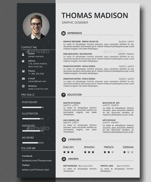 Job Career Resume Get this awesome Resume at $5 Limited Time Offer Resume is the super clean, modern and professional resume cv template to help you land that great job. The flexible page designs are easy to use and customise, so you can quickly tailor-make your resume for any opportunity.. Flexible and editable resume design This professional resume file is in the Adobe Photoshop format and Ms Word, so you can use the software that you wish to edit the Resume with. This resume cv template is cl