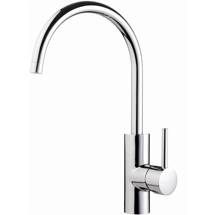 $149 Flexispray WELS 4 Star 7.5L/Minute Medea Curved Gooseneck Sink Mixer - Bunnings Warehouse