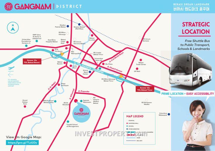 Peta Lokasi Apartemen Gangnam Bekasi #gangnamdistrictbekasi