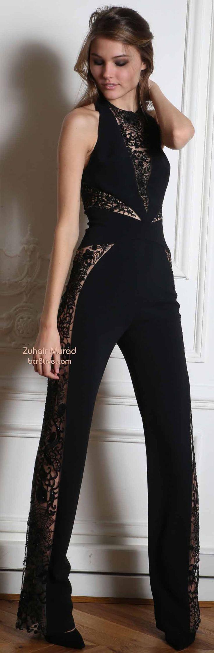Cute Black Pant Jumpsuit - Zuhair Murad Fall Winter 2014-15 RTW