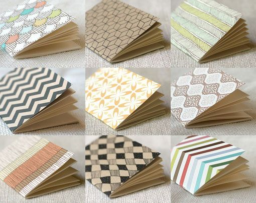 Miniature journal notebooks.