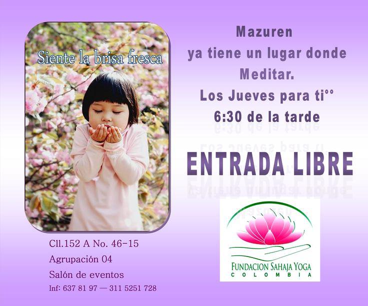 ESTE JUEVES TE INVITAMOS — a #meditar en  Mazuren