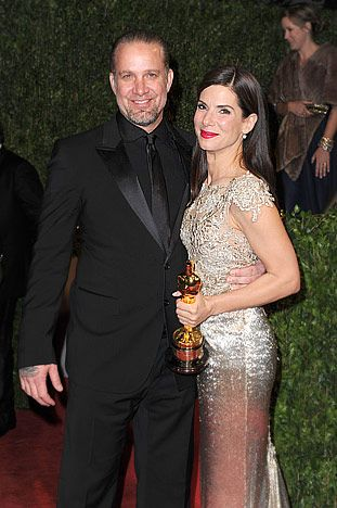Sandra Bullock and Jesse James. He cheated on her and they're divorced now. She adopted a little boy and got custody.