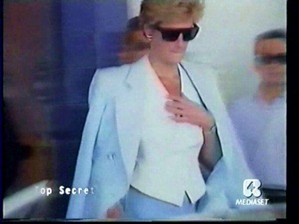 Princess Diana au Malaga Airport, Espagne  - 1994