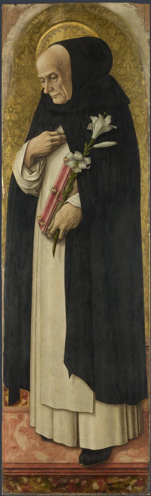 ❤ - CARLO CRIVELLI (1435 – 1495) - Polyptych of San Domenico. Saint Dominic (detail). National Gallery, London.
