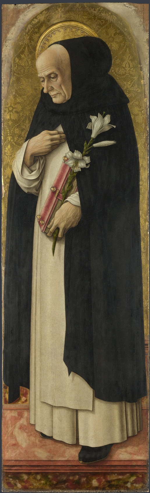 ❤ - CARLO CRIVELLI (1435 – 1495) - Polyptych of San Domenico. Saint Dominic (detail). National Gallery, London.