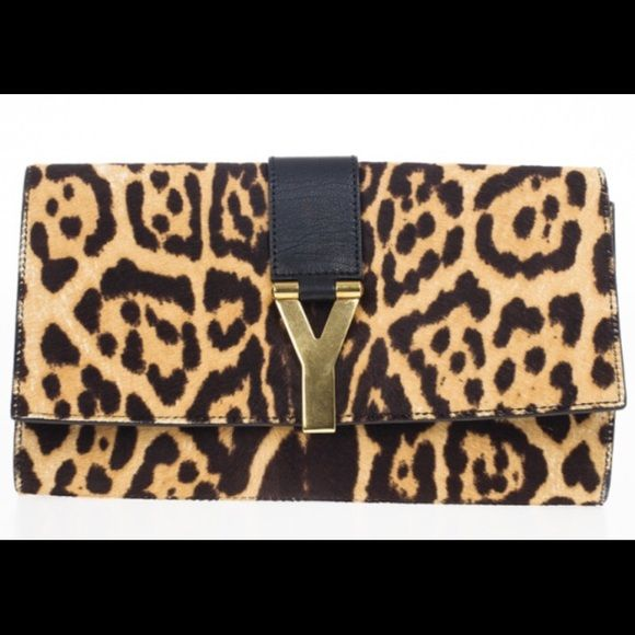 yves saint laurent ponyhair chyc clutch