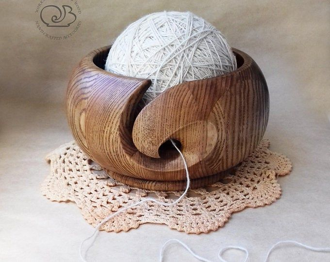 Carved Wood Yarn Bowl Gift For Knitter Wooden Yarn Ball Holder Etsy In 2020 Wooden Yarn Bowl Yarn Bowl Yarn Ball
