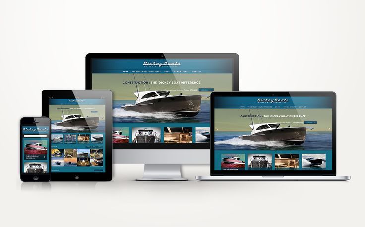 Responsive Website Design for Dickey Boats by Onfire Design http://www.dickeyboats.com/