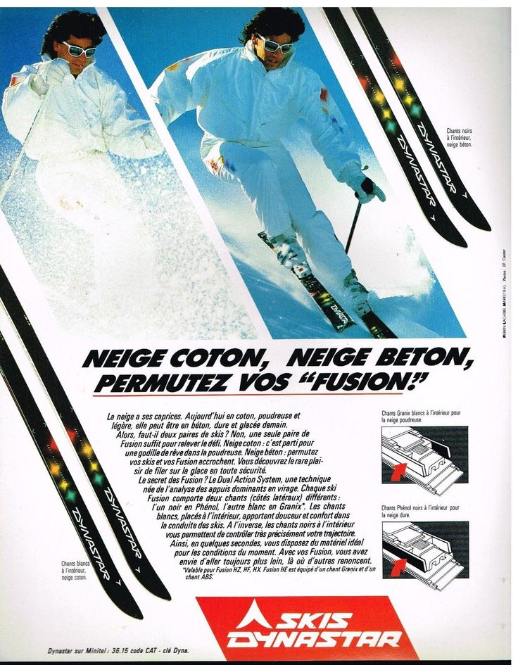 Publicité Advertising 1987 LES Skis Dynastar | eBay