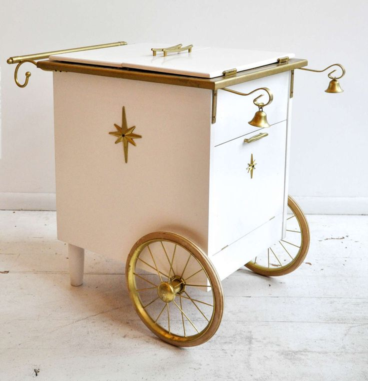 Vintage Ice Cream Bar Cart | From a unique collection of antique and modern carts at https://www.1stdibs.com/furniture/more-furniture-collectibles/carts/
