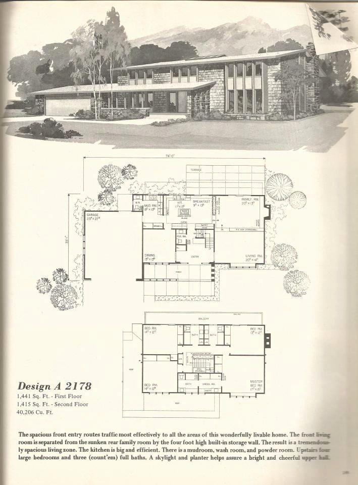 1970 Ranch House Plans Best Of Vintage House Plans 2178 In 2020 Ranch House Plans Vintage House Plans Ranch House