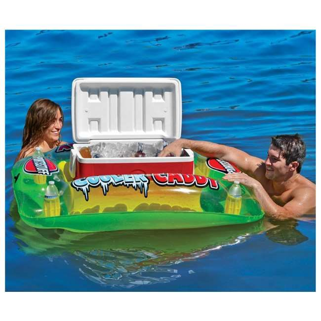 Airhead Sportsstuff Banana Beach Lounge Inflatable Pool Raft + Cooler Float