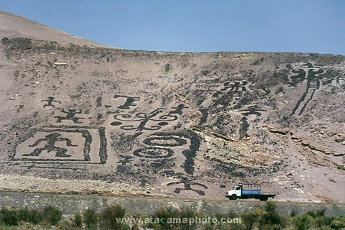 Geoglyphs of Chiza near Arica