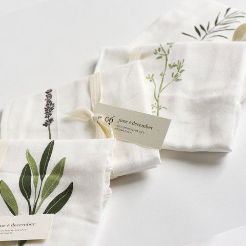 Garden Herb Kitchen Towels : Set of 4 by June and December