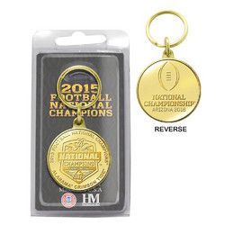 Alabama 2015 College Football National Champions Bronze Coin Keychain