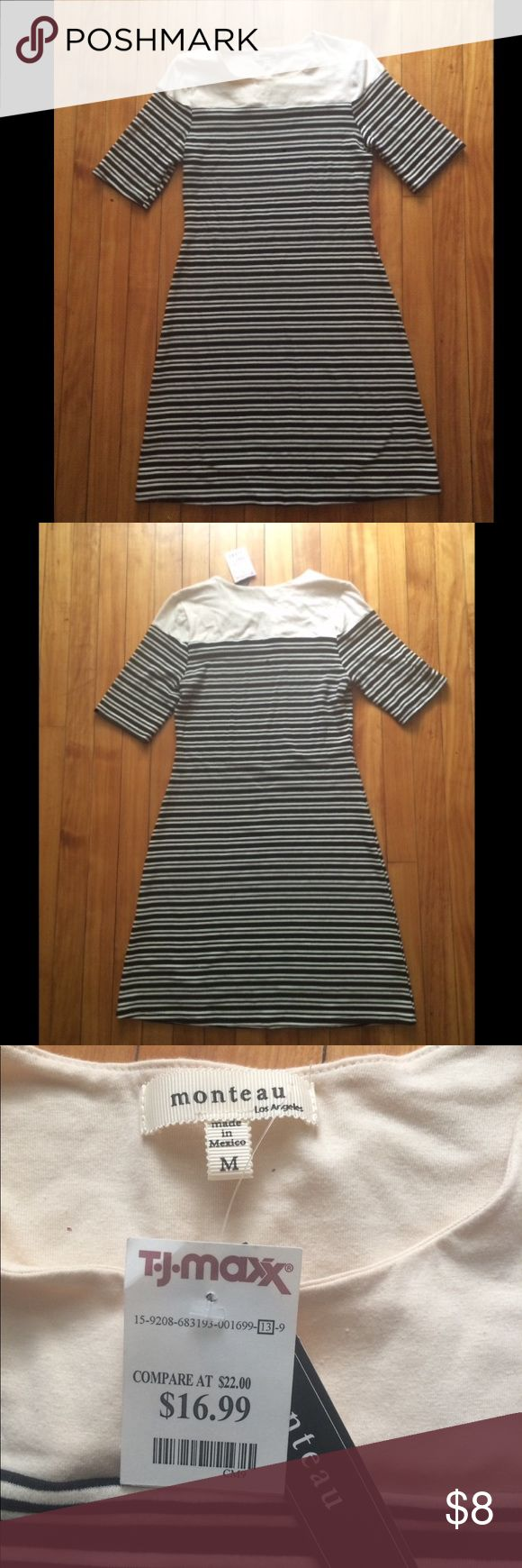 NWT Monteau 97% cotton dress Bought in TJ Max at $16.99. Wanted to use it as a PJ but never did... New with tag, very comfy! Price firm unless bundle Monteau Dresses
