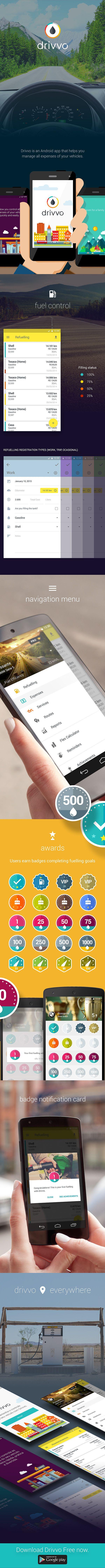 Drivvo - Mobile App UI on Behance
