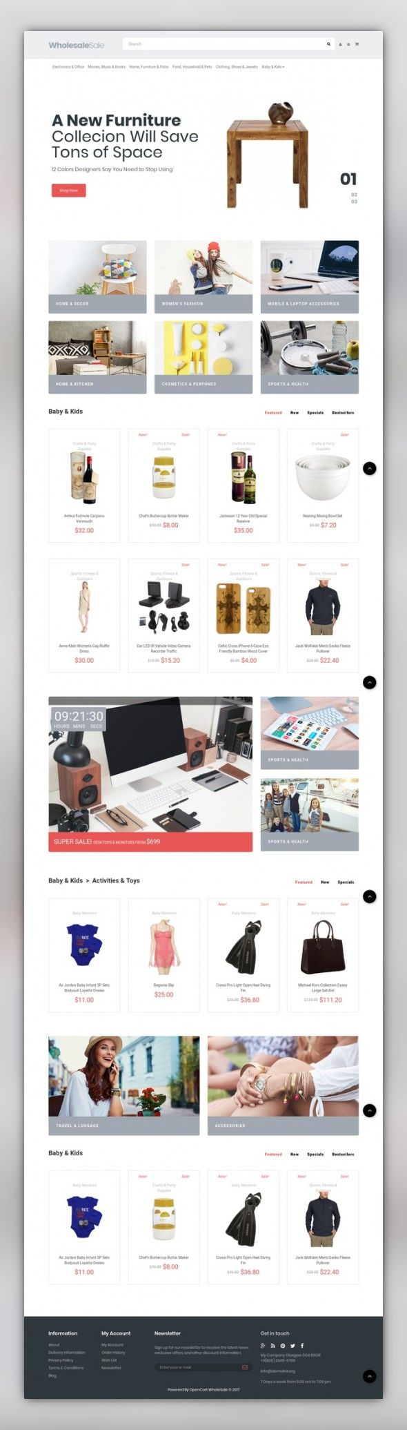 Wholesale Store Responsive OpenCart Template E-commerce Templates, OpenCart Templates, Business & Services, Wholesale Store Wholesale is a fully responsive and SEO friendly OpenCart Theme, produced for wholesale websites. This theme has everything to help you succeed in selling online. No professional skills are require...