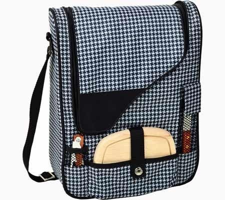 Picnic at Ascot Houndstooth Pinot Wine and Cheese Cooler - Brought to you by Avarsha.com