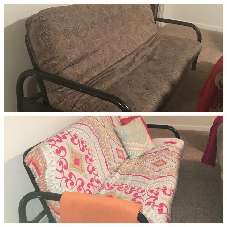 Duvet used as futon cover! #futon #budgetdecor