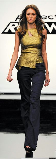 Kimberly's winning look on Project Runway for Nina Garcia. I die for that top.