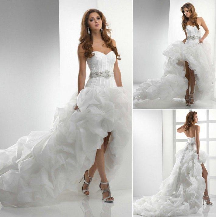 Superb high low wedding dress